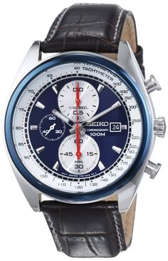 Seiko Men's Quartz Watch SNDF95P1 with Leather Strap