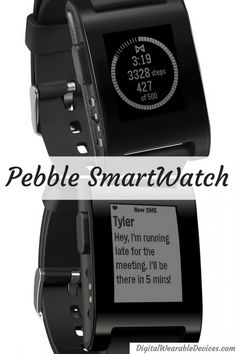 36382b3da0da Pebble SmartWatch - This customizable watch will keep in the loop while on  the go.