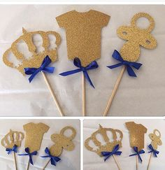 Items similar to Royal Prince Centerpieces, prince centerpieces picks, royal prince baby shower, royal prince party on Etsy Baby Shower Invitations For Boys, Baby Shower Favors, Baby Shower Themes, Baby Shower Gifts, Royal Baby Shower Theme, Shower Party, Shower Ideas, Baby Shower Azul, Fiesta Baby Shower