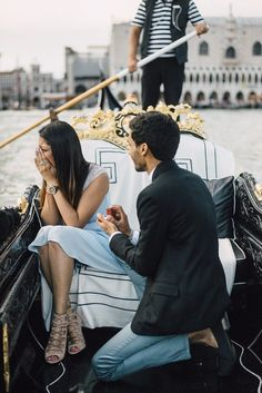 Jes and Nihal's Venice Gondola Proposal -You can find Venice and more on our website.Jes and Nihal's Venice Gondola Proposal - Romantic Proposal, Perfect Proposal, Proposal Ideas, Proposal Photos, Romantic Gifts, Surprise Proposal Pictures, Disney Proposal, Romantic Images, Wedding Proposals