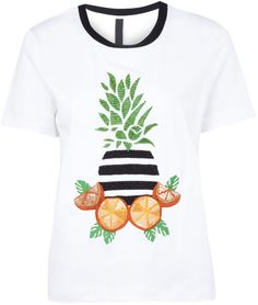 Mother Of Pearl - White Juno Pineapple Tshirt - Lyst Message Logo, Pearl White, White White, Pineapple, Graphic Tees, T Shirts For Women, Pearls, Mens Tops, Outfits