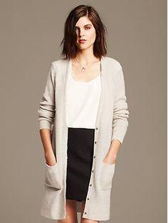 Merino Wool Long Cardigan #minimalist #fashion #style