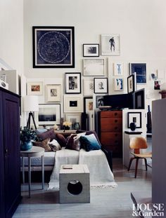 designer Thomas O'Brien's gallery wall | Martyn Thompson | one of my most fave rooms EVER!