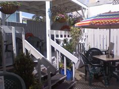 Patio dining at Wally's Chowder House Broiler in Seattle Southside  I worked here.