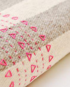 Pink Druzi Wool Blanket from Koromiko.