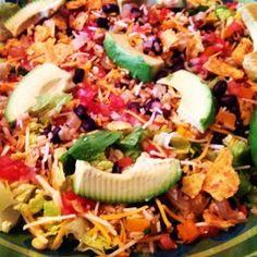 Skinny Vegetarian Taco Salad   Skinny   Skinny Mom   How to get skinny fast   Get Skinny   Skinny tips by modern fit and Skinny moms