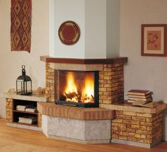 More than 150 firebox claddings in precious stone and marble, bricks and contemporary materials such as steel, cement and glass. Home Fireplace, Fireplaces, Cladding, Stove, Tiny House, Brick, Sweet Home, Indoor, House Design