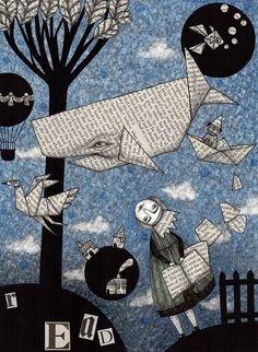 Los libros abren puertas a la imaginación ... misterios del arte (Ilustración de Judith Clay)