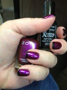 Special New Years nails. Zoya mason and black.