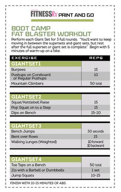 BOOT CAMP workout...I've done this workout for years and it still kicks my A$$ every time!!