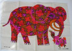 elephant linen tea towel - belinda lyon, via etsy