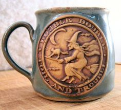 Magick Wicca Witch Witchcraft:  For the #Witch's morning coffee or tea ~ a Shakespearian Witch Stoneware Mug, from Medieval Mayhem.