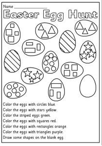 Easter Egg Basket Color by Number | Classroom stuff ...