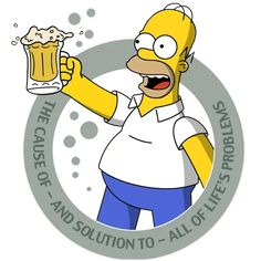 The Simpsons Sticker Pack for Telegram - TelegramGuides Homer Simpson Beer, Bart Simpson, The Simpsons Tv Show, Beer Quotes, Liquor Quotes, Wall Paint Inspiration, Simpsons Drawings, Simpson Wallpaper Iphone, Angel Warrior