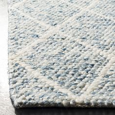 Shop the Rug - Color: Ivory, Blue; Size: x by Safavieh. Made from Wool in India. This Hand Tufted Ivory, Blue rug has a pile_height, perfect for a soft yet durable addition to your home. Coastal Area Rugs, Blue Area Rugs, Light Blue Area Rug, Coastal Living, Coastal Decor, Coastal Furniture, House Furniture, Furniture Design, Room Rugs