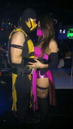 Scorpion &  mileena (mortal kombat)