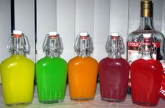 Infuse your vodka with Skittles for a few hours!