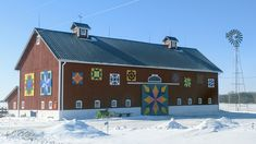 Barn Quilt Designs, Quilting Designs, Barn Signs, Barn Art, Barn Quilts, Diy Projects, Cabin, House Styles, Ideas