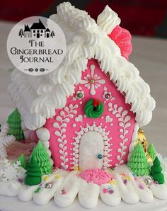 Gingerbread House C www.gingerbreadjournal.com- free tutorial www.gingerbreadjournal.com
