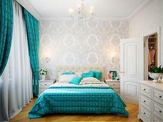 Спальня. Дизайн интерьера трехкомнатной квартиры в стил фьюжн на пр. Маршала Жукова, 108 кв.м.