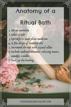 Spiritual Bath, Spiritual Cleansing, Healing, Wiccan, Witchcraft, Magick, Savon Soap, New Moon Rituals, Bath Recipes