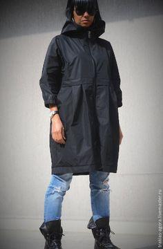Купить Плащ -куртка 05 - черный, однотонный, плащ, плащ женский, плащевая ткань, куртка