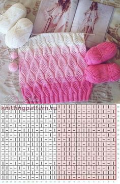 Beautiful pattern. In a moneybox Knitting Stiches, Knitting Charts, Lace Knitting, Baby Knitting Patterns, Knitting Designs, Knitting Projects, Crochet Stitches, Stitch Patterns, Knit Crochet