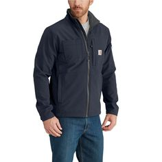 9525f3e7cfd Carhartt Men S XX-Large Tall Navy (Blue) Nylon Spandex Polyester Rough Cut  Jacket