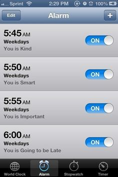 Setting one alarm. | 23 Things That Sound Fake To People With ADHD