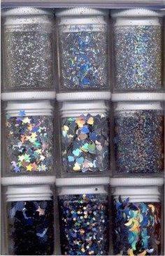 DIY glitters antraciet zwart
