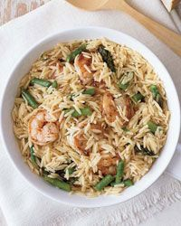 Orzo Risotto with Buttery Shrimp Recipe on Food & Wine