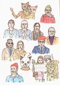 Ruby Tulips, Sketches of Wes Anderson Movies