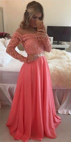 b417a97b5258 New Lace Chiffon Evening Gowns Sheer Illusion Long Sleeves Beaded Prom Prom  Dresses_Prom Dresses_Special Occasion Dresses_Buy High Quality Dresses from  ...