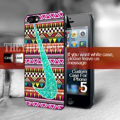 nike Glitter Mint aztec Iphone 5 Case