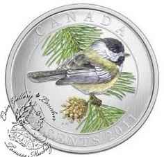 2011 Canadian Birds of Canada: Black-Capped Chickadee Coloured Coin Mint Coins, Silver Coins, Hummingbird Colors, Black Capped Chickadee, Canadian Coins, Coins For Sale, Commemorative Coins, World Coins, Canada