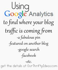 Use Google analytics to figure out where your blog traffic is coming from