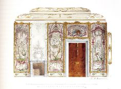 Interior design for the Chinese Palace in Oranienbaum, Saint Petersburg