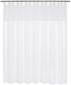 Amazon.com: Barossa Design XLarge Fabric Shower Curtain with Sheer Window 96 x 96 inch, Waffle Weave, Hotel Collection, 230 GSM Heavyweight, Water Repellent, Machine Washable, White, 96x96: Home & Kitchen Sheer Curtains, Fabric Shower Curtains, Kids Bath, Waffle, Home Kitchens, Weave, Windows, Amazon, Collection
