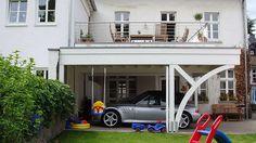 Balkon carport .das begehbare carport autotalli pinterest