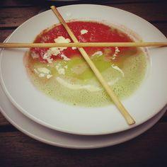 Krem pomidorowo-groszkowy zamówiony z #Elner w #Korek308