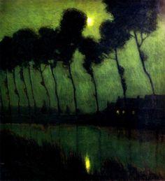Charles Warren Eaton~ Bruges Moonlight ~1910