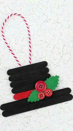 christmas crafts & christmas crafts & christmas crafts for kids to make & christmas crafts for kids & christmas crafts for toddlers & christmas crafts diy & christmas crafts for gifts & christmas crafts for adults & christmas crafts for kids to make easy Easy Christmas Ornaments, Christmas Art, Handmade Christmas, Christmas Gifts, Snowman Ornaments, Popsicle Stick Christmas Crafts, Ornaments Ideas, Christmas Decorations For Kids, Popcicle Stick Ornaments