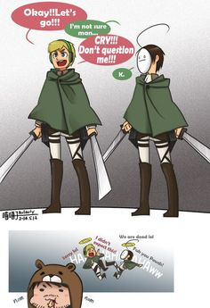 Two my favorites thing together. Pewds&Cry&Ken x Attack on titan ♥ :D