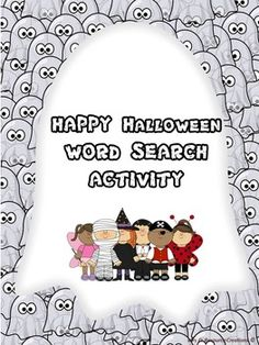 FREEBIE - This Halloween Themed Word Search Printable is a fun and educational activity for your students! Instructions: Find the words listed at the bottom of the worksheet. Words can go vertical, horizontal, diagonal, forwards or backwards.Early finishers can color in the pictures.Optional: Make it a competition to see who can find all the words first!