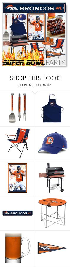 """Super Bowl Party *  Denver  Broncos * Peyton Manning"" by calamity-jane-always ❤ liked on Polyvore featuring interior, interiors, interior design, home, home decor, interior decorating, Sportula, Williams-Sonoma, Rawlings and '47 Brand"