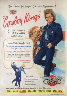 Vintage Advertising Posters, Vintage Advertisements, Vintage Posters, Vintage Jeans, Vintage Outfits, Vintage Fashion, Vintage Western Wear, Great Western, History Of Jeans