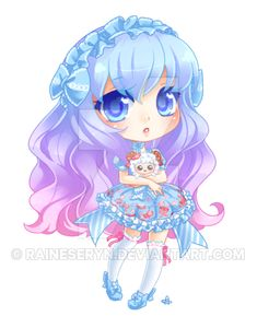 Chibi commission for of her super cute OC. I hope you are all ready for an ocean of chibis //ca. [C:C] LadyKeiara Kawaii Anime Girl, Manga Kawaii, Manga Cute, Cute Anime Chibi, Kawaii Chibi, Anime Art Girl, Chibi Girl Drawings, Cute Kawaii Drawings, Cute Animal Drawings