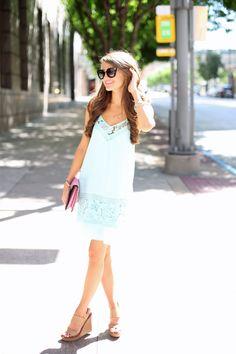Southern Curls & Pearls: Mint Lace Dress...