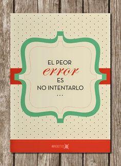 Un post de carteles con mensaje, preparándonos para las buenas intenciones.