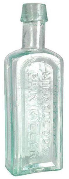 Dr Montarde, Miraculous Pain Killer, Paris, Aqua, 5 inch. Old Medicine Bottles, Old Glass Bottles, Antique Bottles, Vintage Bottles, Vintage Medical, Apothecary, Miraculous, Aqua, Collections